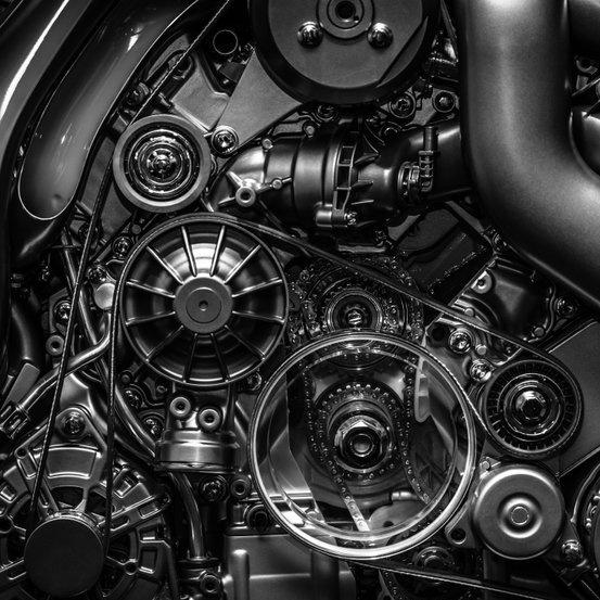 internal engine closeup