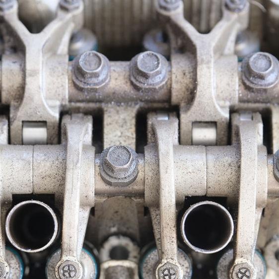 engine being taken apart
